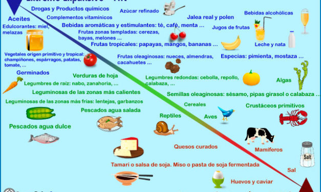 Clasificación de los alimentos según la filosofía oriental